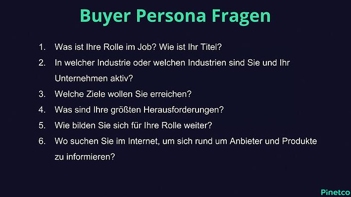 Buyer Persona Fragebogen