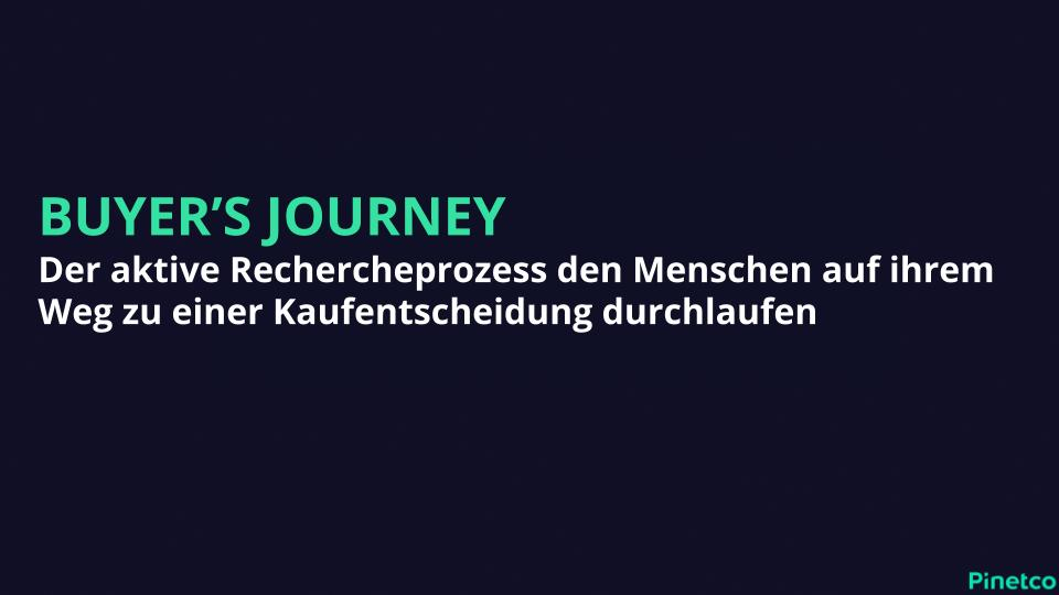 Buyers Journey Definition